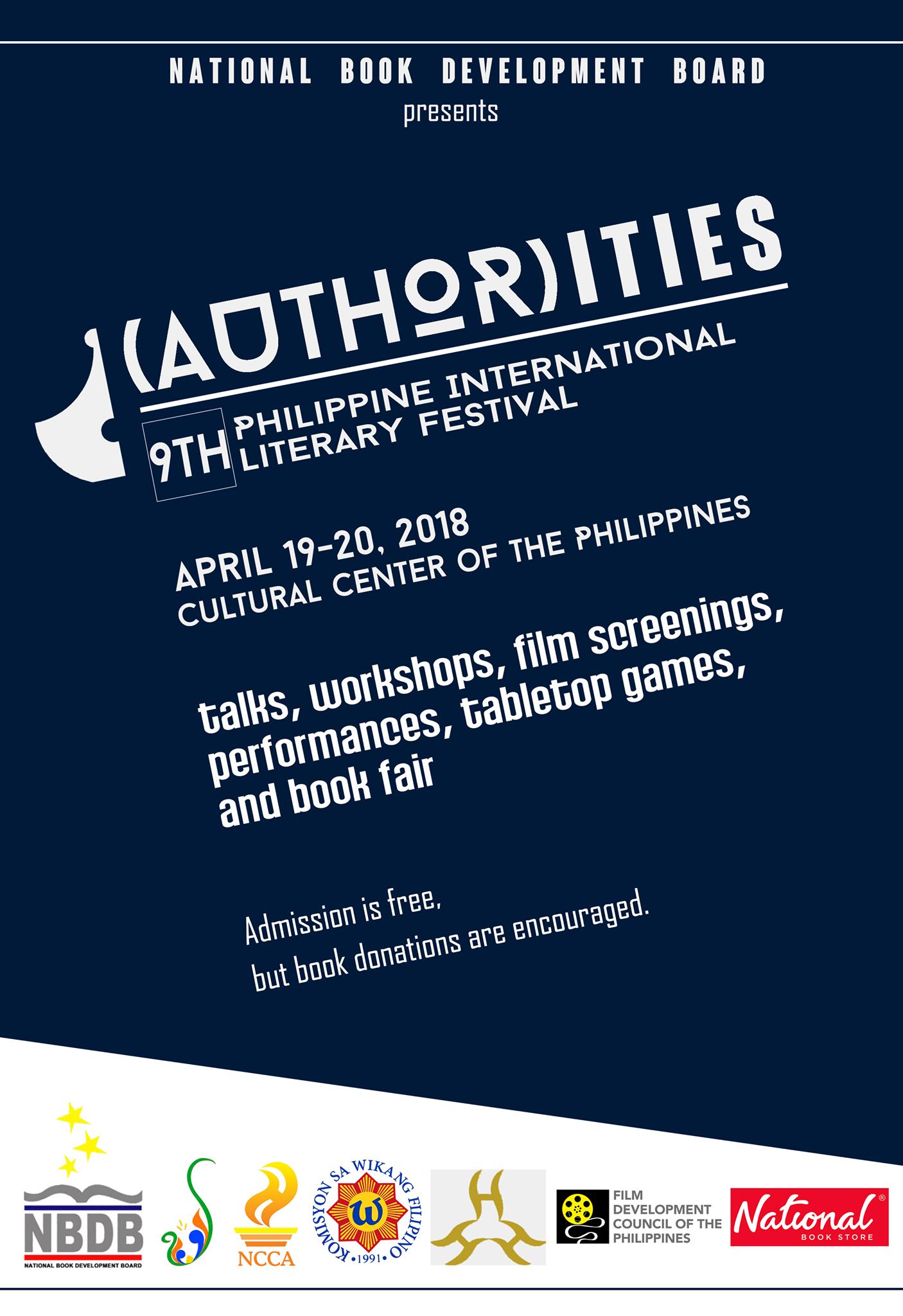 AUTHORities: The 9th Philippine International Literary Festival